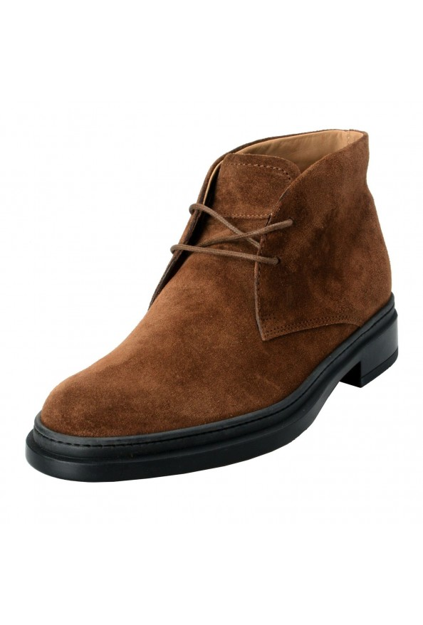 Tod's Men's Suede Brown Polacco Lace Up Ankle Boots Shoes