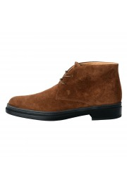 Tod's Men's Suede Brown Polacco Lace Up Ankle Boots Shoes: Picture 2