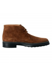 Tod's Men's Suede Brown Polacco Lace Up Ankle Boots Shoes: Picture 4