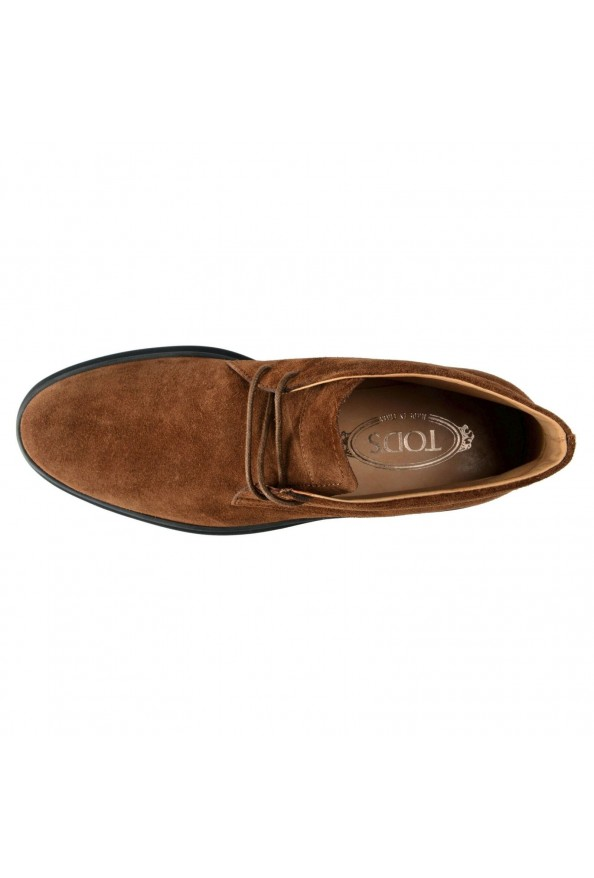 Tod's Men's Suede Brown Polacco Lace Up Ankle Boots Shoes: Picture 7