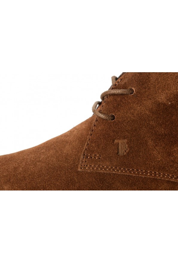 Tod's Men's Suede Brown Polacco Lace Up Ankle Boots Shoes: Picture 8