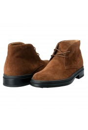 Tod's Men's Suede Brown Polacco Lace Up Ankle Boots Shoes: Picture 9