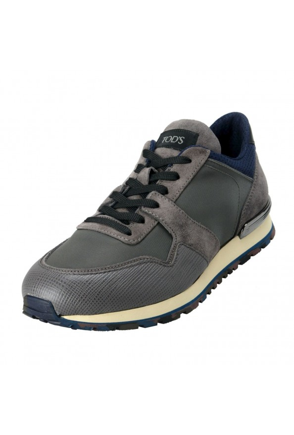 """Tod's """"New All"""" Men's Gray Lace Up Fashion Sneakers Shoes"""