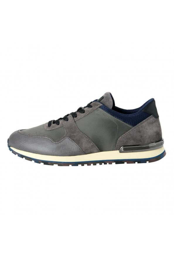 """Tod's """"New All"""" Men's Gray Lace Up Fashion Sneakers Shoes: Picture 2"""
