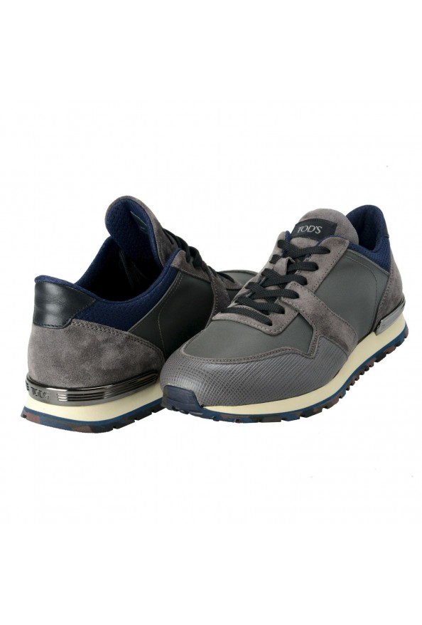 """Tod's """"New All"""" Men's Gray Lace Up Fashion Sneakers Shoes: Picture 8"""