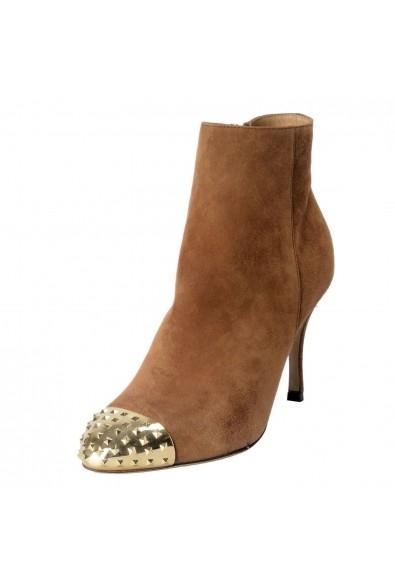 Valentino Garavani Women's Leather Rockstud Toe Ankle Boots Shoes