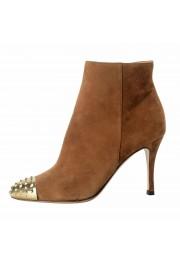 Valentino Garavani Women's Leather Rockstud Toe Ankle Boots Shoes: Picture 2