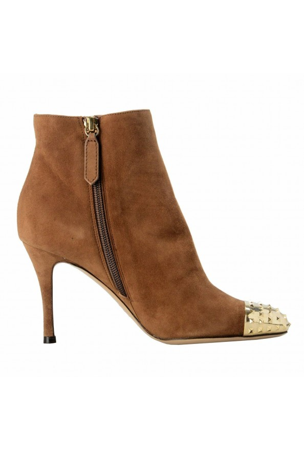 Valentino Garavani Women's Leather Rockstud Toe Ankle Boots Shoes: Picture 4