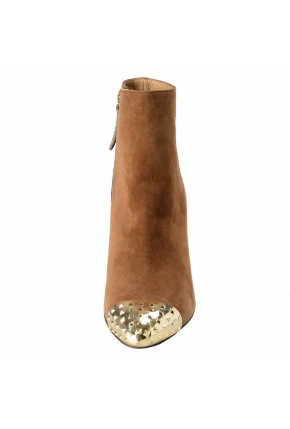 Valentino Garavani Women's Leather Rockstud Toe Ankle Boots Shoes: Picture 5