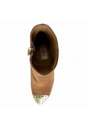 Valentino Garavani Women's Leather Rockstud Toe Ankle Boots Shoes: Picture 7