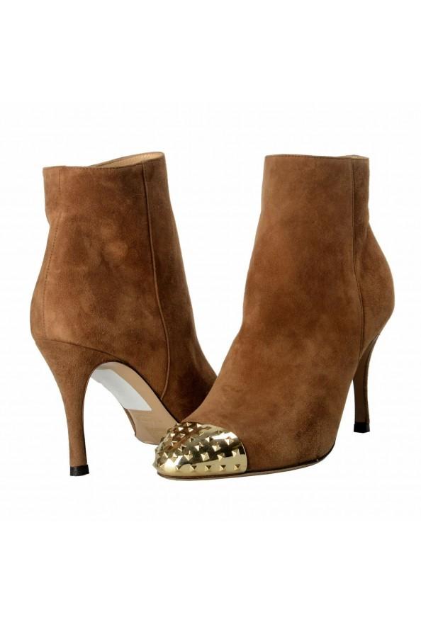 Valentino Garavani Women's Leather Rockstud Toe Ankle Boots Shoes: Picture 8