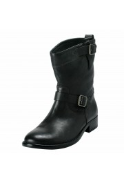 """Belstaff """"England"""" Women's Leather Black Ankle Boots Shoes"""