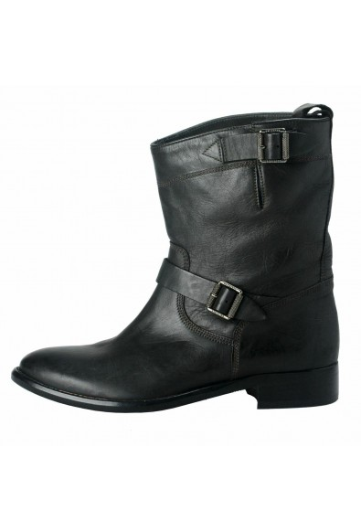 """Belstaff """"England"""" Women's Leather Black Ankle Boots Shoes: Picture 2"""