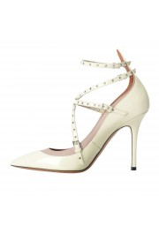 Valentino Garavani Women's Leather White Ankle Strap Pumps Shoes: Picture 2