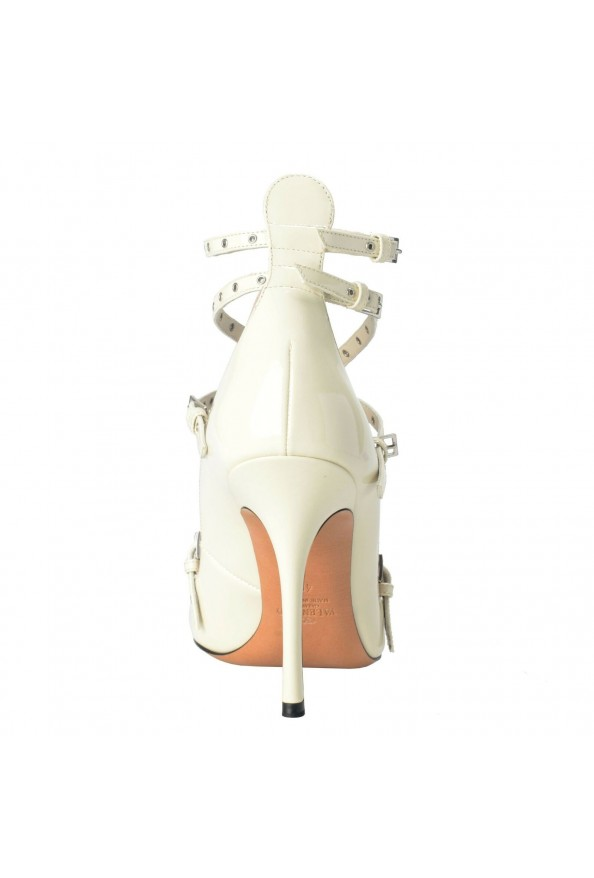 Valentino Garavani Women's Leather White Ankle Strap Pumps Shoes: Picture 3