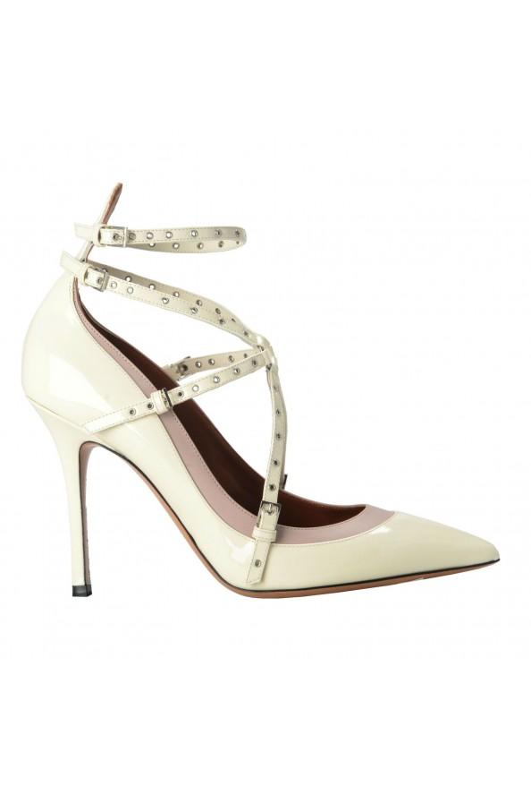 Valentino Garavani Women's Leather White Ankle Strap Pumps Shoes: Picture 4