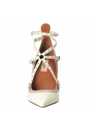 Valentino Garavani Women's Leather White Ankle Strap Pumps Shoes: Picture 5