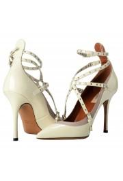 Valentino Garavani Women's Leather White Ankle Strap Pumps Shoes: Picture 6