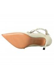 Valentino Garavani Women's Leather White Ankle Strap Pumps Shoes: Picture 7