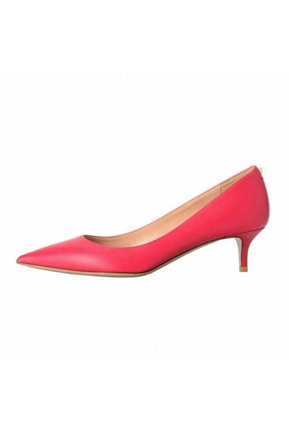 Valentino Garavani Women's Rockstud Fuchsia Kitten Heels Pumps Shoes: Picture 2