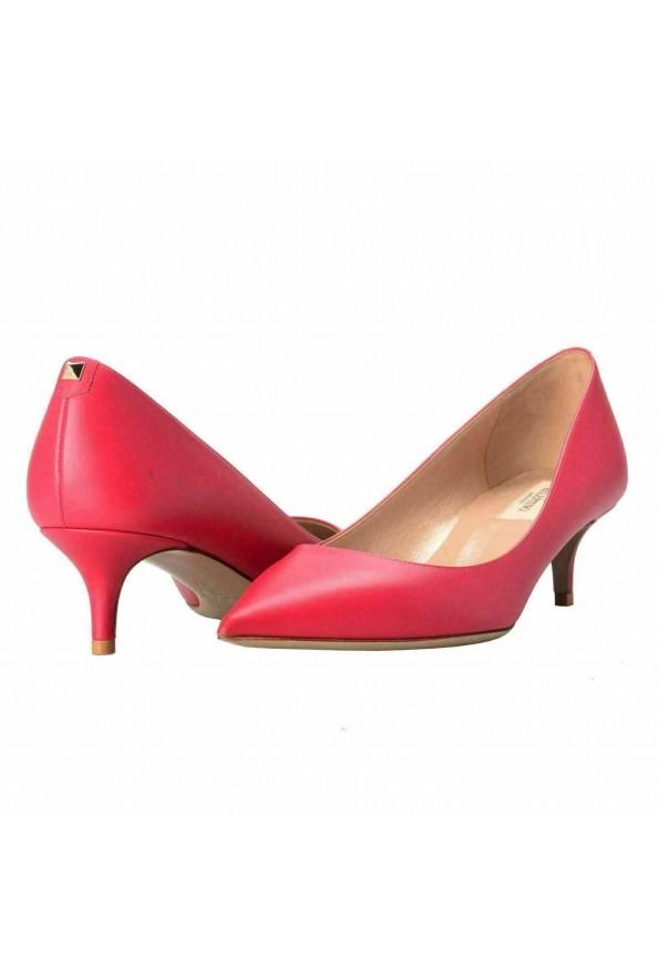 Valentino Garavani Women's Rockstud Fuchsia Kitten Heels Pumps Shoes: Picture 7