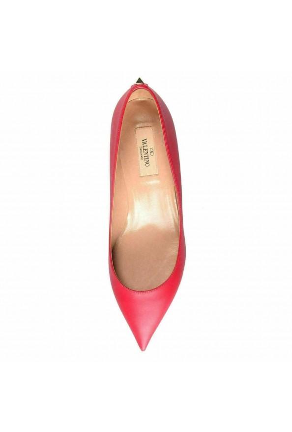 Valentino Garavani Women's Rockstud Fuchsia Kitten Heels Pumps Shoes: Picture 8