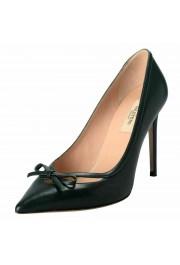 Valentino Garavani Women's Leather Dark Green High Heels Pumps Shoes