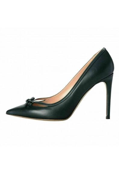 Valentino Garavani Women's Leather Dark Green High Heels Pumps Shoes: Picture 2