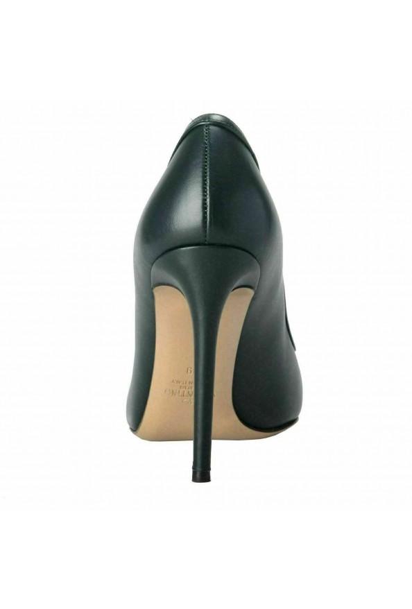 Valentino Garavani Women's Leather Dark Green High Heels Pumps Shoes: Picture 3