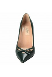 Valentino Garavani Women's Leather Dark Green High Heels Pumps Shoes: Picture 5