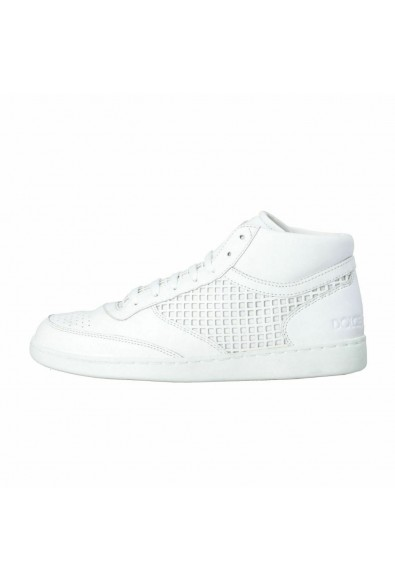 Dolce & Gabbana Men's White Leather Fashion Sneakers Shoes: Picture 2