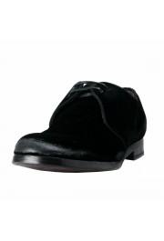 Dolce & Gabbana Men's Black Velour Leather Oxfords Dress Shoes