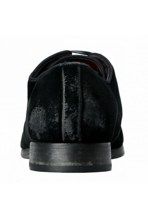 Dolce & Gabbana Men's Black Velour Leather Oxfords Dress Shoes: Picture 3