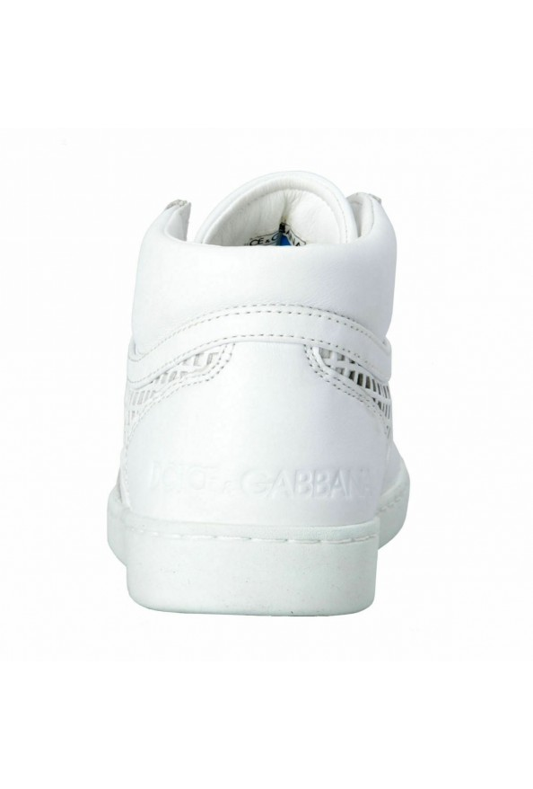 Dolce & Gabbana Men's White Leather Fashion Sneakers Shoes: Picture 3