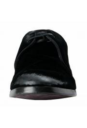 Dolce & Gabbana Men's Black Velour Leather Oxfords Dress Shoes: Picture 5