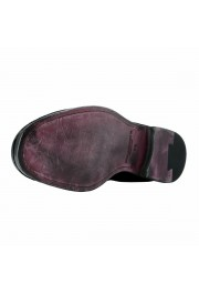 Dolce & Gabbana Men's Black Velour Leather Oxfords Dress Shoes: Picture 6