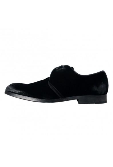 Dolce & Gabbana Men's Black Velour Leather Oxfords Dress Shoes: Picture 2