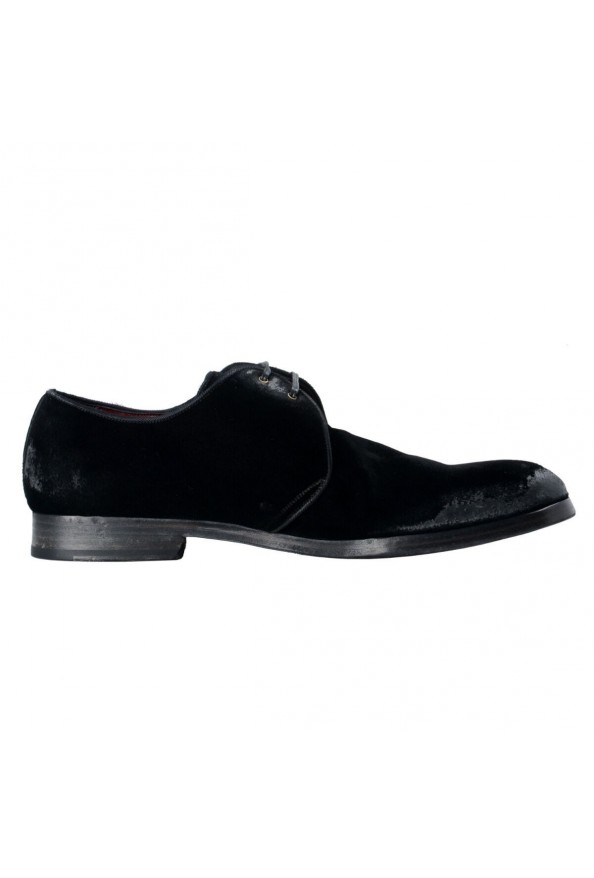 Dolce & Gabbana Men's Black Velour Leather Oxfords Dress Shoes: Picture 4