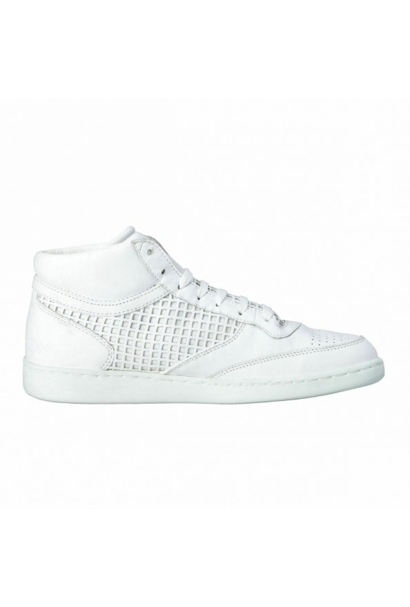 Dolce & Gabbana Men's White Leather Fashion Sneakers Shoes: Picture 4