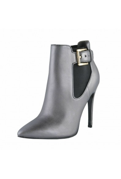 Just Cavalli Women's Gray Leather High Heel Ankle Boots Shoes