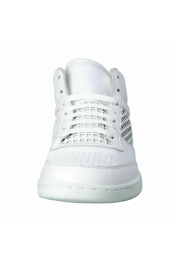 Dolce & Gabbana Men's White Leather Fashion Sneakers Shoes: Picture 5