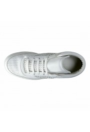 Dolce & Gabbana Men's White Leather Fashion Sneakers Shoes: Picture 7