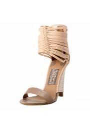 "Salvatore Ferragamo ""Pulcket"" Leather High Heel Sandals Shoes"