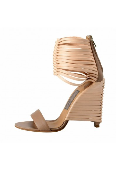"""Salvatore Ferragamo """"Pulcket"""" Leather High Heel Sandals Shoes: Picture 2"""