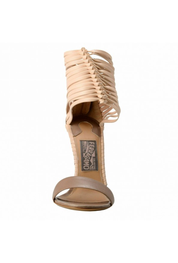 """Salvatore Ferragamo """"Pulcket"""" Leather High Heel Sandals Shoes: Picture 3"""