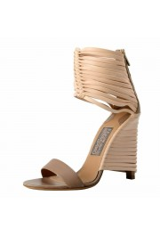 """Salvatore Ferragamo """"Pulcket"""" Leather High Heel Sandals Shoes: Picture 4"""