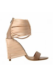 """Salvatore Ferragamo """"Pulcket"""" Leather High Heel Sandals Shoes: Picture 6"""