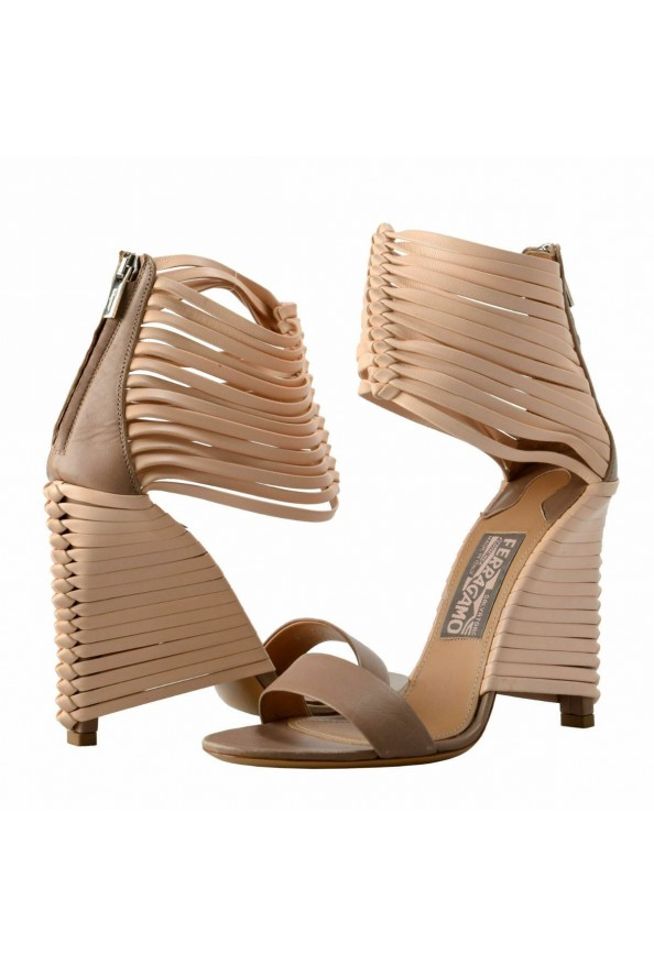 """Salvatore Ferragamo """"Pulcket"""" Leather High Heel Sandals Shoes: Picture 8"""