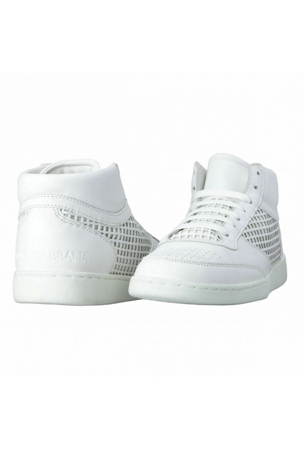 Dolce & Gabbana Men's White Leather Fashion Sneakers Shoes: Picture 8