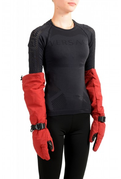 """Moncler """"Guanti"""" Red Long Winter Gloves: Picture 2"""